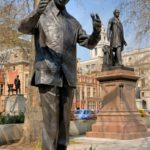103. The statue of Nelson Mandela in Parliament Square, London (Gallo Images)