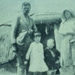 116. Poor white family outside their maatjie (reed mat) hut in Namaqualand (source unknown)