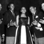136. Miriam Makeba singing with the Manhattan Brothers (Jurgen Schadeberg)
