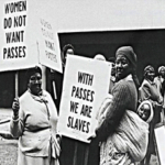 153.  Women protesting against the carrying of passes (South African national Library)