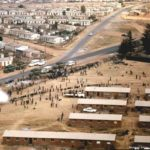 176. Aerial view over Soweto after the uprising in 1976 (MuseumAfrica)