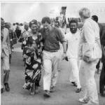 184. Frederik van Zyl Slabbert (centre) in  Accra in 1987 (Picture courtesy of Professor Jannie Gagiano, Univ of Stellenbosch, Western Cape)