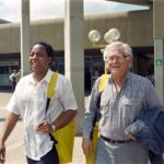 186.  Chris Hani (left) and Joe Slovo (AFP Walter Dhladhla, Gallo  Images)