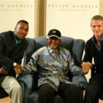 191. President   Mandela with 2 soccer captains (Gallo Images)