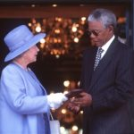 193. President Nelson Mandela receiving The Order of Merit from Queen Elizabeth in 1995 (Anwar Husse, Gallo Getty Images)