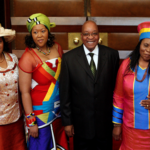 200. Jacob Zuma with 2 of his wives and a fiancee (Mike Hutchings, Reuters, Gallo Images)
