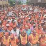 219. Union members protesting against toll roads, The Star, 28 May 2015