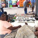 240.  Zulu lady selling her wares on Durban beachfront (Gail Nattrass).