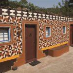 242.  geometric design on house (courtesy of Maropeng Tourism)