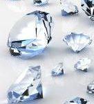 62.  Diamonds cut into facets