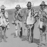92.  Migrant workers making the long walk home during the Anglo-Boer War (Media Centre, School of Education at Wits)