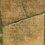 96.  The tombstone of  Pieter, aged two at Balmoral (Nick West)