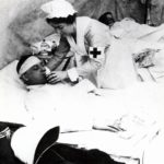 98. A British nurse attending to a wounded soldier (Western Cape Archives)