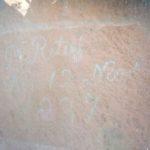 Deborah Retief (Piet Retief's daughter) engraved her father's name on a rock faceat Kerkenberg in the Drakensberg on his 57th birthday, 12 November 1837